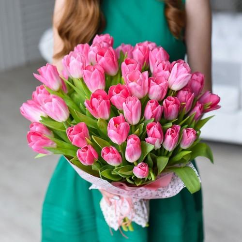 51 розовый тюльпан