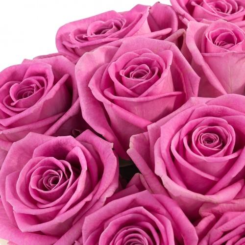 Коробка с розовыми розами SMALL