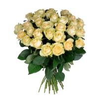 Кремовые розы поштучно