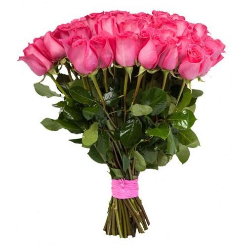 Импортные розовые розы поштучно
