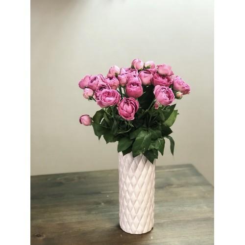 Ваза керамическая Stone Flower 25см, бежевый